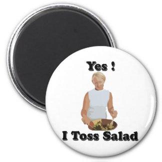 Toss the Salad 6 Cm Round Magnet