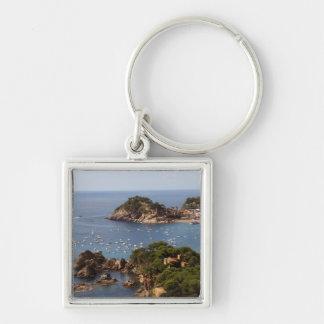 TOSSA DE MAR. Town located in the Costa Brava. Silver-Colored Square Key Ring