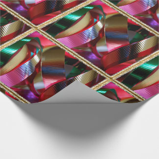 Tossed Curling Ribbon Christmas Wrapping Paper