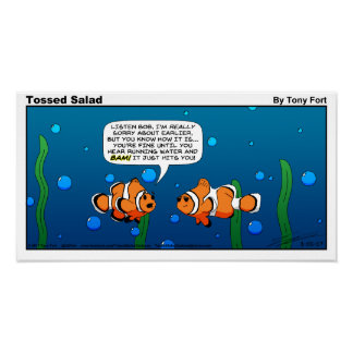 Tossed Salad Sunday Cartoon Print