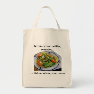 Tostada Salad Grocery List Tote Bag