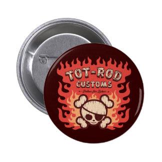 Tot Rod Customs 6 Cm Round Badge