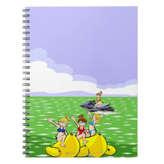 Total diversion in a boat banana notebooks