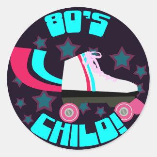 Total Eighties Child Round Sticker