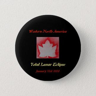 Total Lunar Eclipse 2018 6 Cm Round Badge