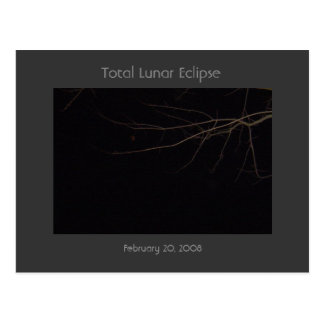 Total Lunar Eclipse Postcard