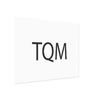 Total Quality Management ai Gallery Wrap Canvas