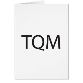 Total Quality Management ai Greeting Cards