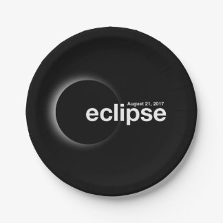 Total Solar 2017 Eclipse Paper Plate