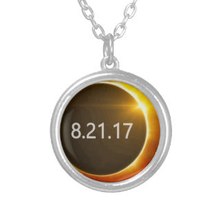 Total-Solar-Eclipse3 Silver Plated Necklace