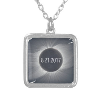 Total-Solar-Eclipse7 Silver Plated Necklace