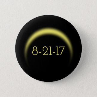 Total Solar Eclipse 2017 6 Cm Round Badge