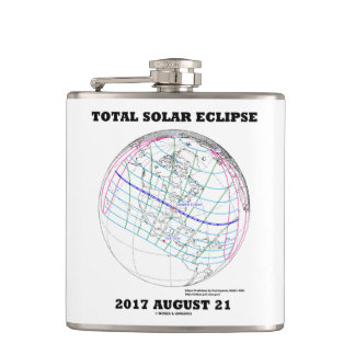 Total Solar Eclipse 2017 August 21 North America Hip Flask