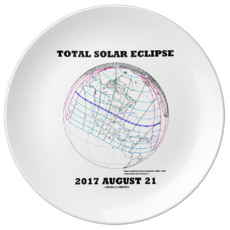 Total Solar Eclipse 2017 August 21 North America Plate