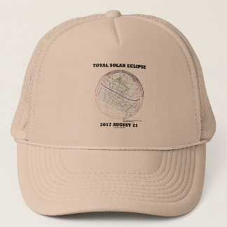 Total Solar Eclipse 2017 August 21 North America Trucker Hat
