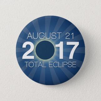 Total Solar Eclipse 2017 - Blue Design 6 Cm Round Badge