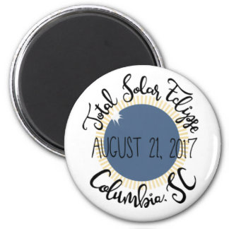 Total Solar Eclipse 2017 Columbia SC Round Magnet