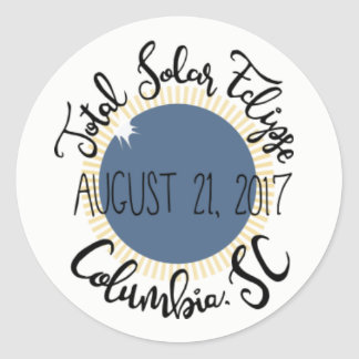 Total Solar Eclipse 2017 Columbia SC Round Sticker