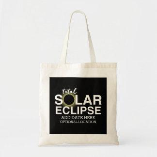 Total Solar Eclipse 2017 - Custom Date & Location Tote Bag