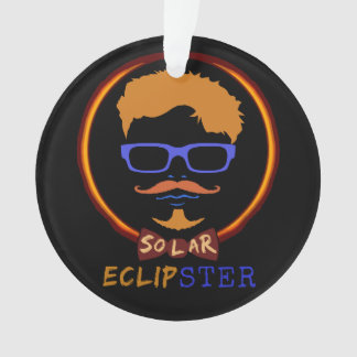 Total Solar Eclipse 2017 Funny Hipster Custom Text Ornament