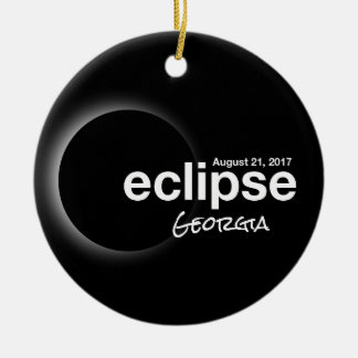 Total Solar Eclipse 2017 - Georgia Ceramic Ornament