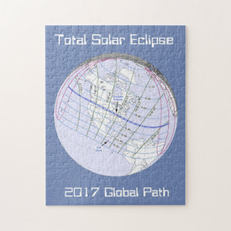 Total Solar Eclipse 2017 Global Path Jigsaw Puzzle