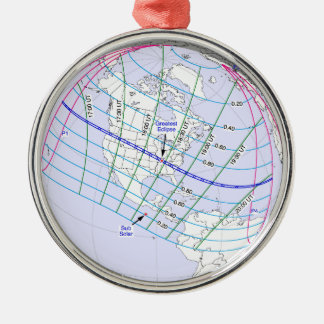 Total Solar Eclipse 2017 Global Path Metal Ornament
