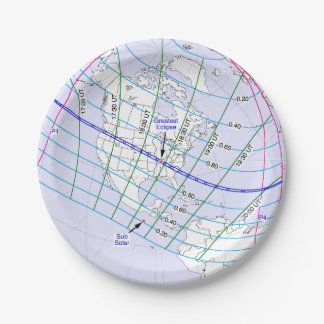 Total Solar Eclipse 2017 Global Path Paper Plate