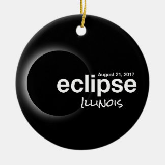 Total Solar Eclipse 2017 - Illinois Ceramic Ornament