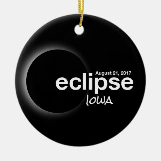Total Solar Eclipse 2017 - Iowa Ceramic Ornament
