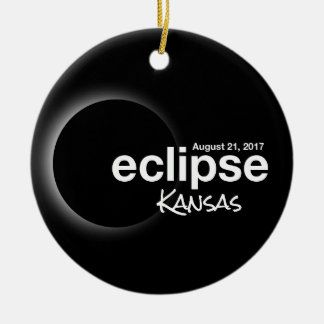 Total Solar Eclipse 2017 - Kansas Ceramic Ornament