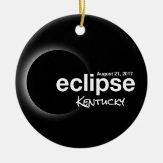 Total Solar Eclipse 2017 - Kentucky Ceramic Ornament