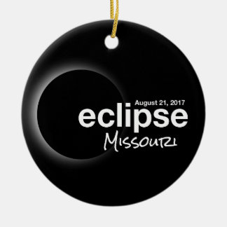 Total Solar Eclipse 2017 - Missouri Ceramic Ornament