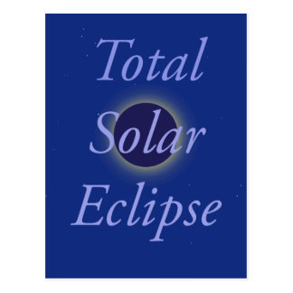 Total Solar Eclipse 2017 Postcard
