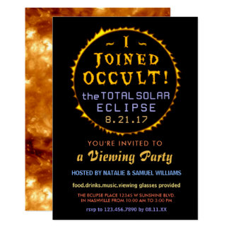 Total Solar Eclipse 2017 Viewing | Funny Occult Card