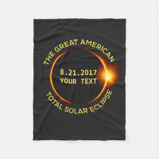 Total Solar Eclipse 8.21.2017 USA Add Your State Fleece Blanket
