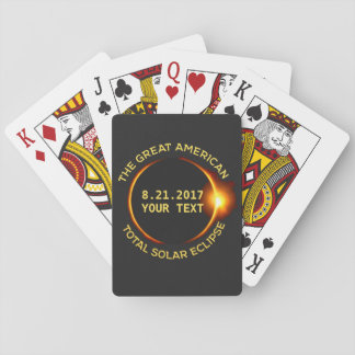 Total Solar Eclipse 8.21.2017 USA Custom Text Playing Cards