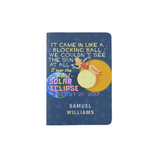 Total Solar Eclipse August 21 2017 American Funny Passport Holder