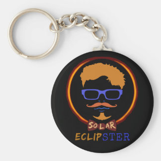 Total Solar Eclipse August 21 2017 Funny Hipster Key Ring