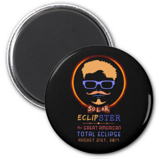 Total Solar Eclipse August 21 2017 Funny Hipster Magnet