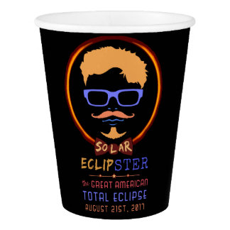 Total Solar Eclipse August 21 2017 Funny Hipster Paper Cup