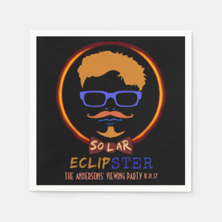 Total Solar Eclipse August 21 2017 Funny Hipster Paper Napkin