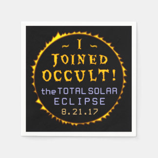 Total Solar Eclipse August 21 2017 Funny Occult Disposable Napkin