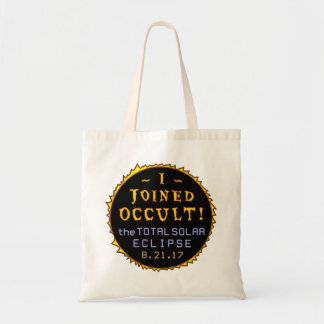 Total Solar Eclipse August 21 2017 Funny Occult Tote Bag
