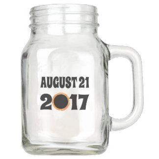Total Solar Eclipse August 21 2017 Mason Jar