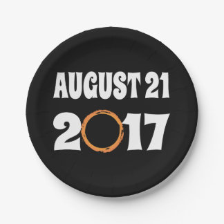 Total Solar Eclipse August 21 2017 Paper Plate