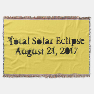 Total solar eclipse August 21, 2017 Throw Blanket
