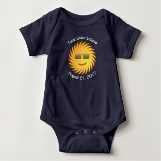 Total Solar Eclipse Baby Bodysuit - Navy