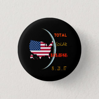 Total Solar Eclipse Buttons Aug 21ST USA