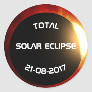 Total Solar Eclipse Classic Round Sticker
